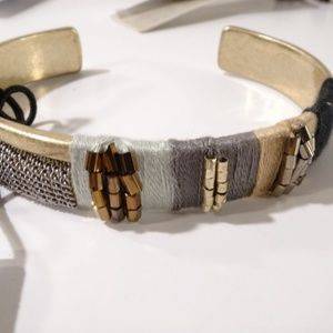 Nordstrom Treasure and bond Gold Black grey Cuff